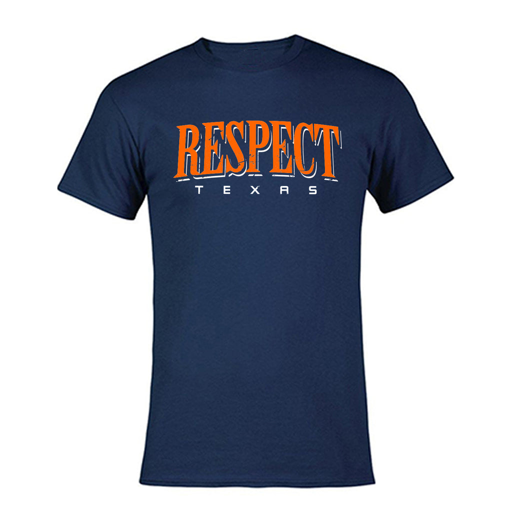 "HoggLife ""Respect"" Tee - Navy/Orange/White"
