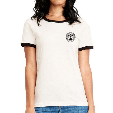 "BossLife ""Circle B"" Ringer Tee - Black/White"