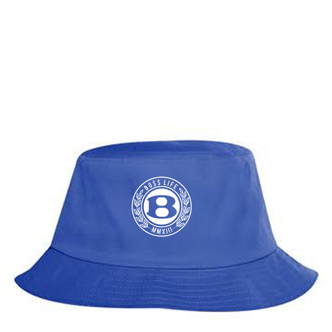 "BossLife ""Circle B"" Bucket Hat - Royal/White"