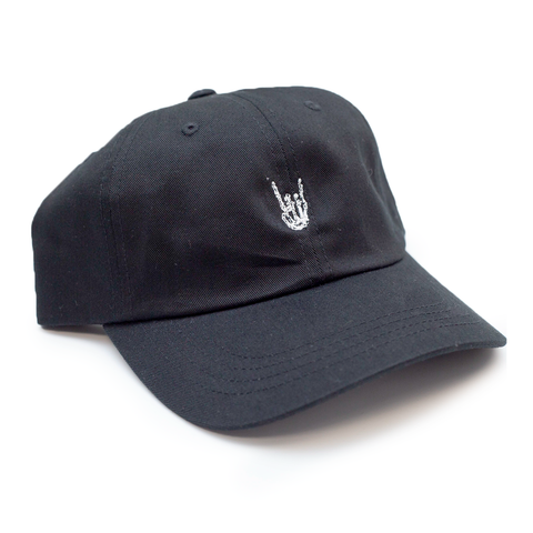 "HoggLife ""Skull"" Dad Hat - Black/White"