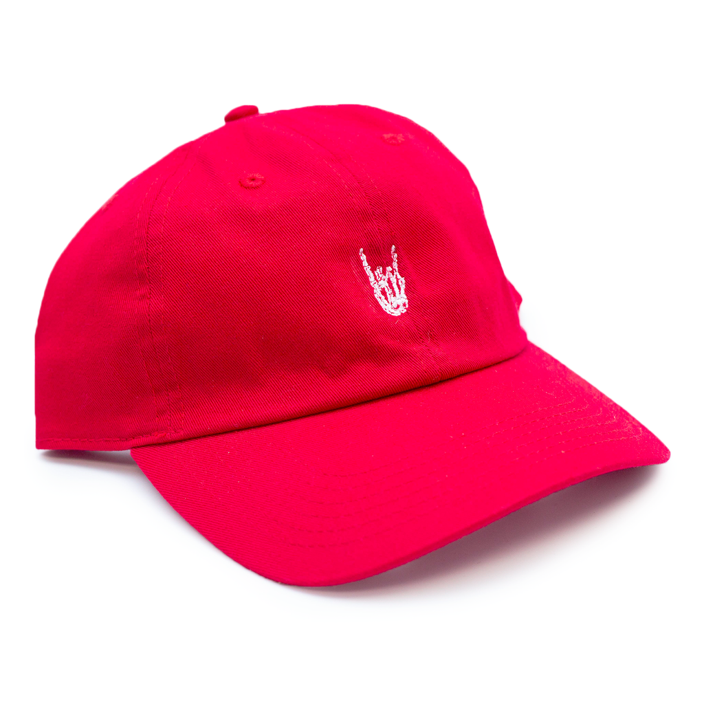 "HoggLife ""Skull"" Dad Hat - Red/White"