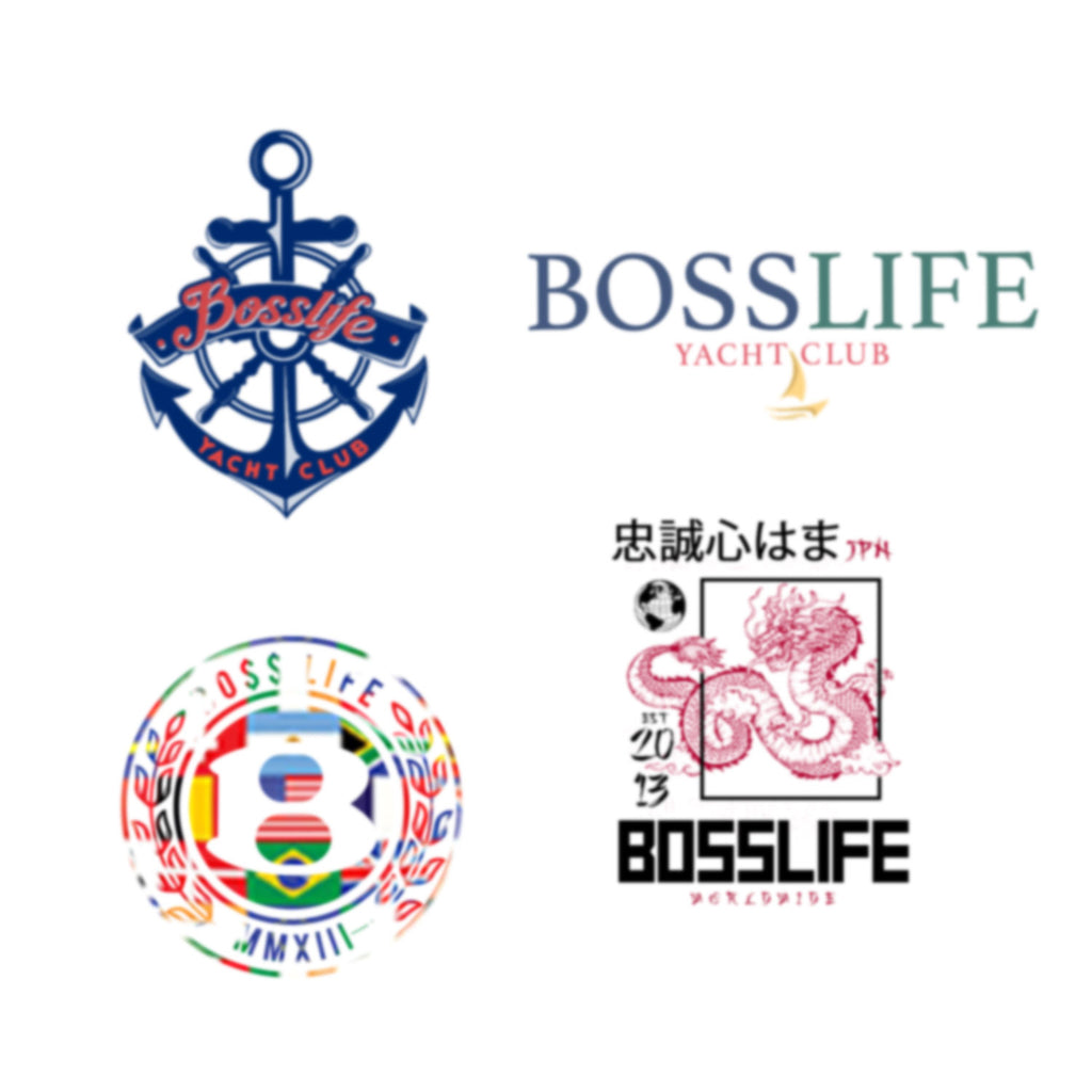 "BossLife ""Worldwide"" sticker 4pk"