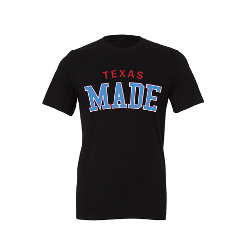"HoggLife ""Texas Made"" Tee - Black/Red/White/Skyblue"