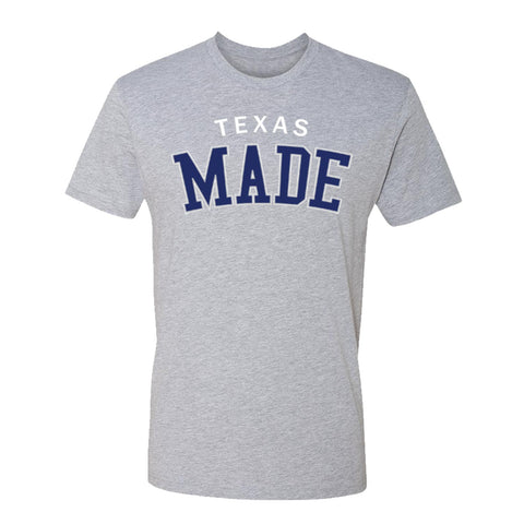 "HoggLife ""Texas Made"" Tee - Grey//Navy/Grey/White"