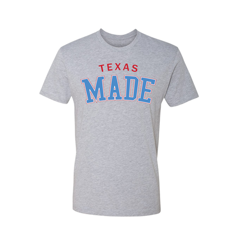 "HoggLife ""Texas Made"" Tee - Grey/Red/White/Skyblue"