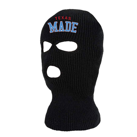 "HoggLife ""Texas Made"" Ski Mask - Black/Multi"
