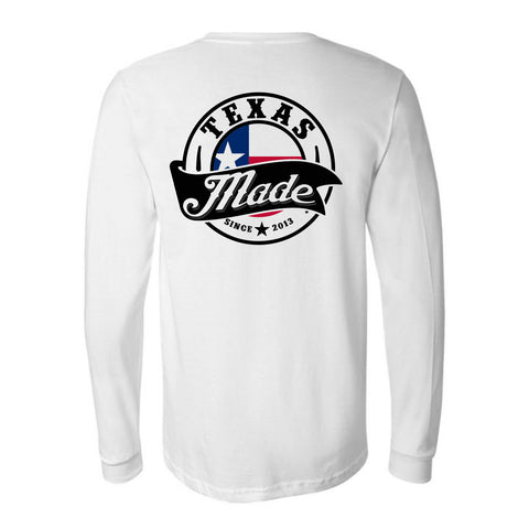 "HoggLife ""Texas Made v3"" Long Sleeve - White/Multi"