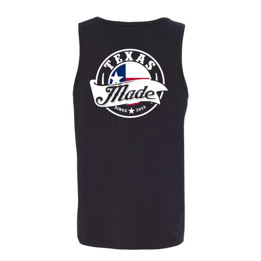 "HoggLife ""Texas Made v3"" Tank - Black/White"