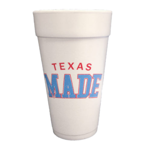 "HoggLife ""Texas Made"" Foam Cup 10pk - White/Multi"