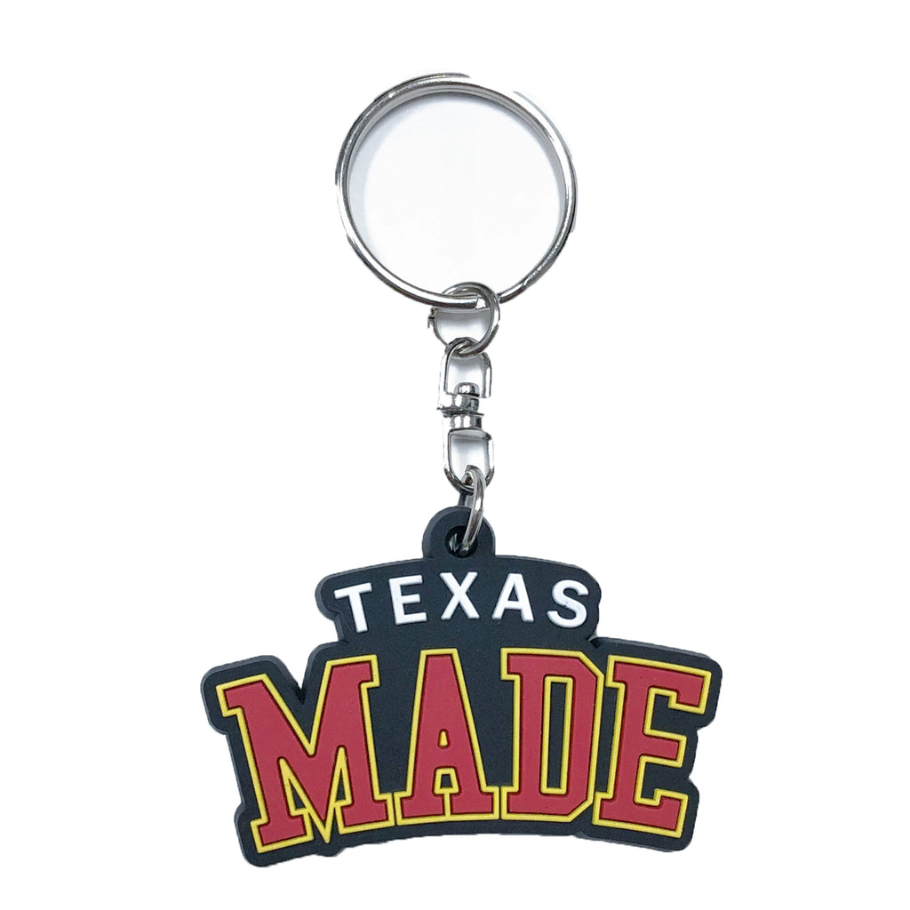 "HoggLife ""Texas Made"" Keychain - Black/Multi"