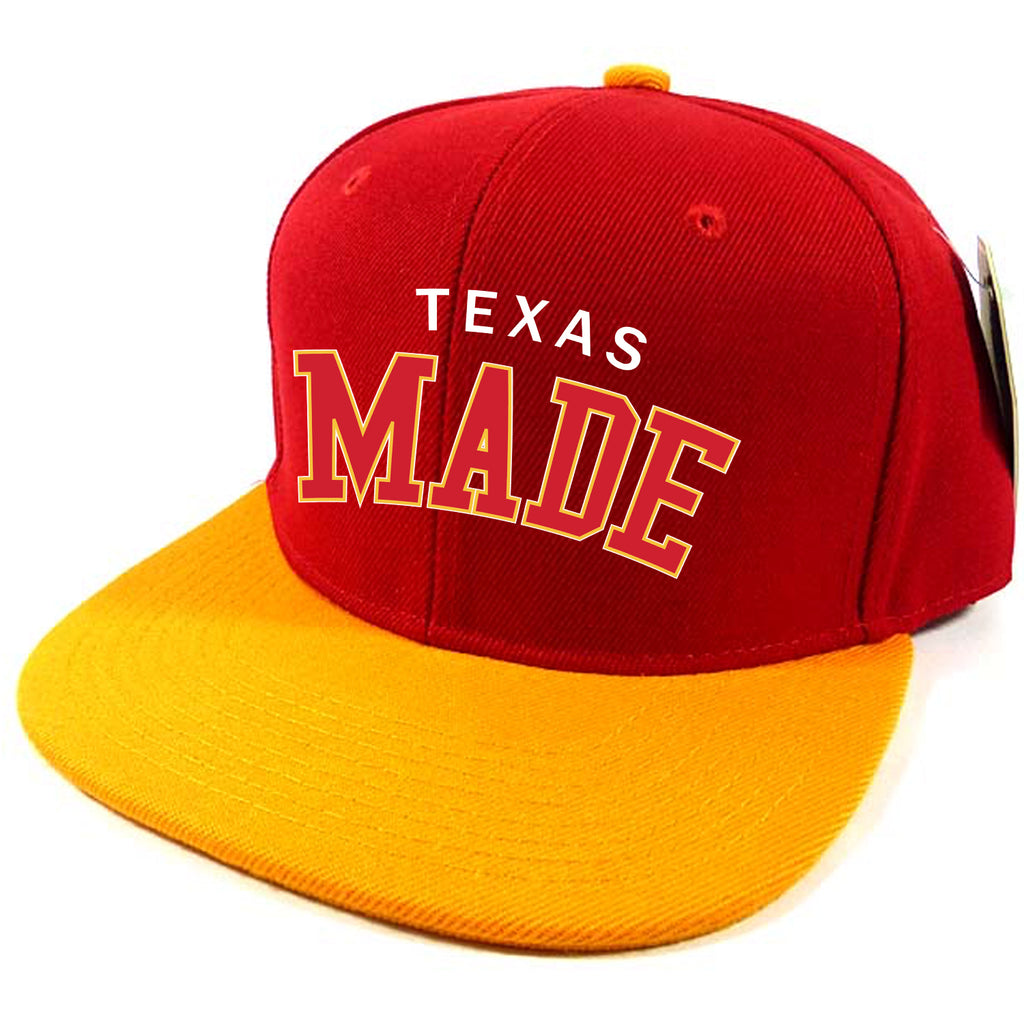 "HoggLife ""Texas Made""  Snapback - Red/White/Yellow"