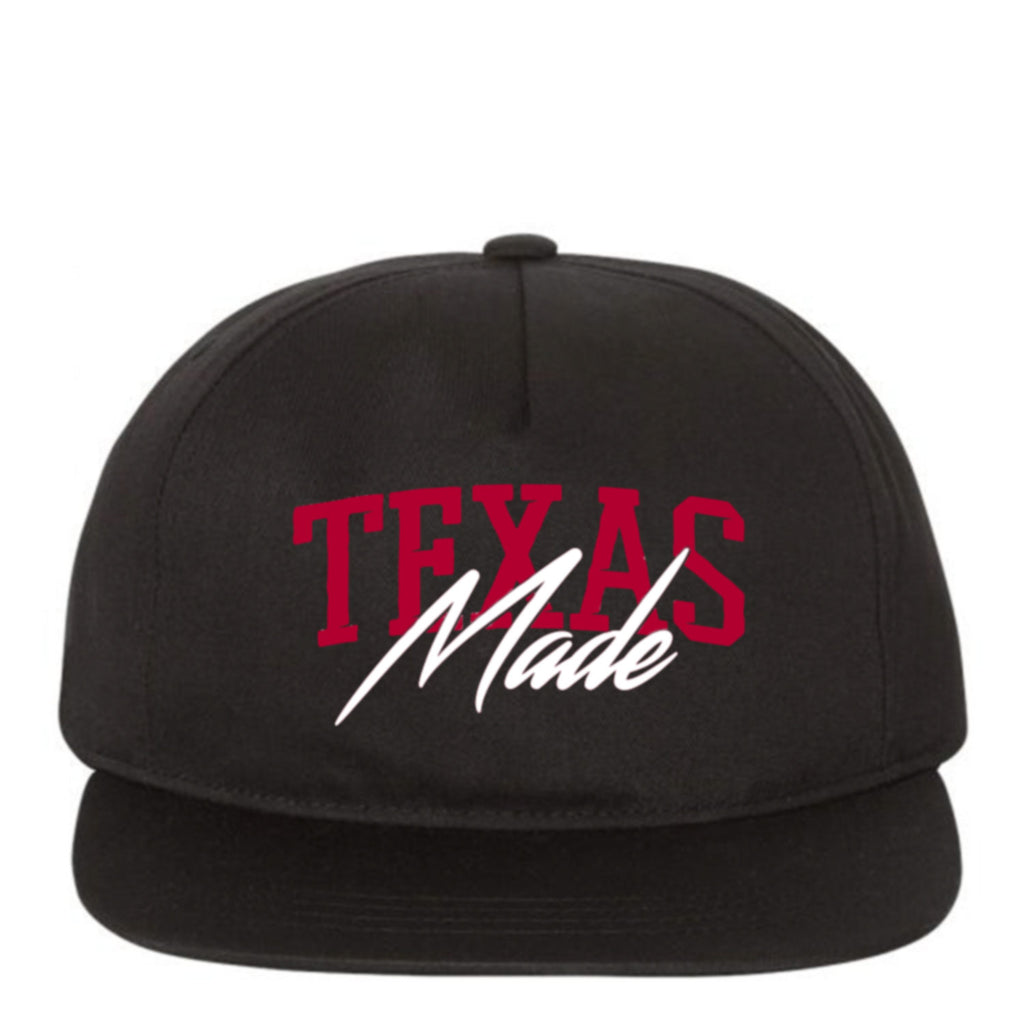 "HoggLife ""TX Made"" SnapBack - Black/Red/White"