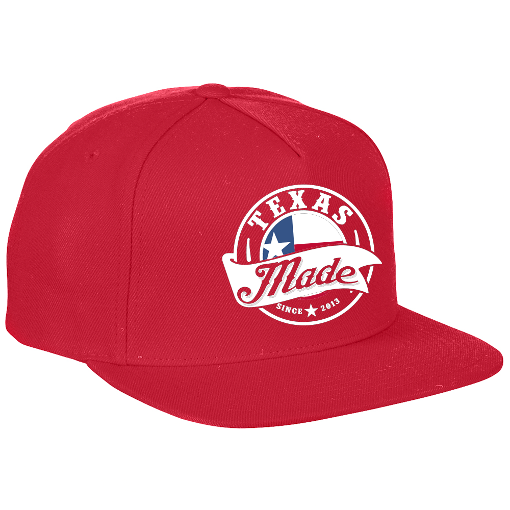 "HoggLife ""Texas Made"" Snapback - Red/White"