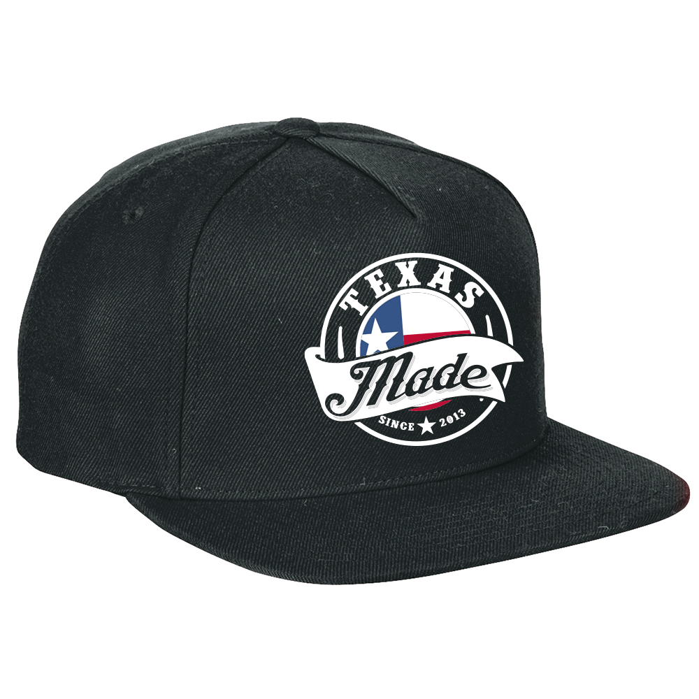 "HoggLife ""Texas Made"" Snapback - Black/White"