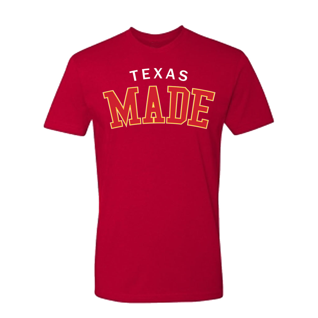 "HoggLife ""Texas Made"" Tee - Red/White/Yellow/Red"