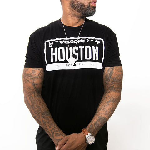 "HoggLife ""Welcome 2 Houston"" Tee - Black/White"