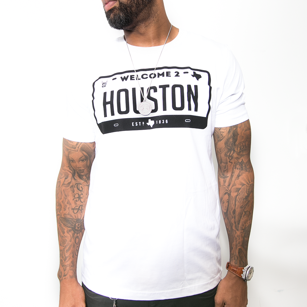 "HoggLife ""Welcome 2 Houston"" Tee - White/Black"