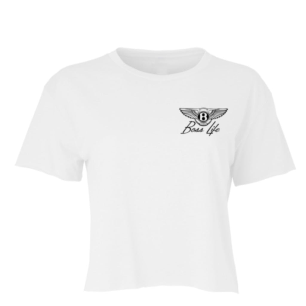 "BossLife ""Wings"" Crop Top - White/Black"