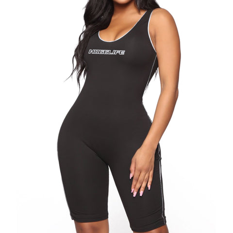 "HoggLife ""Motor"" Women's Romper - Black/3m"