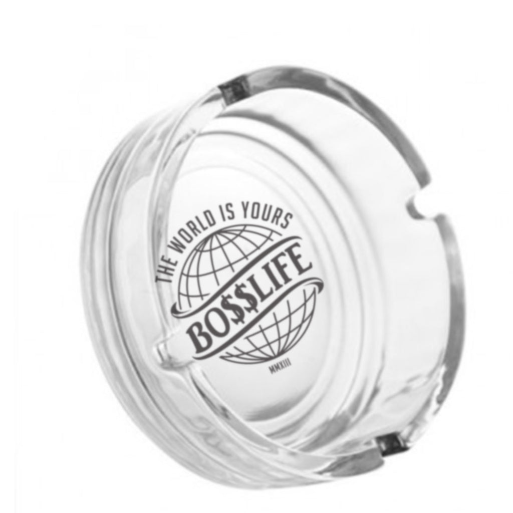 "BossLife ""World is Yours"" Ashtray - Glass"