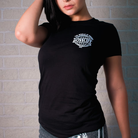 "BossLife ""World"" Women's Tees - Black/White"