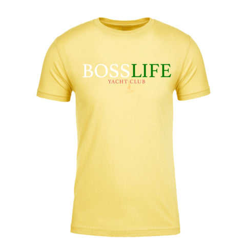 "BossLife ""Yacht Club"" Tee- Yellow/Multi"