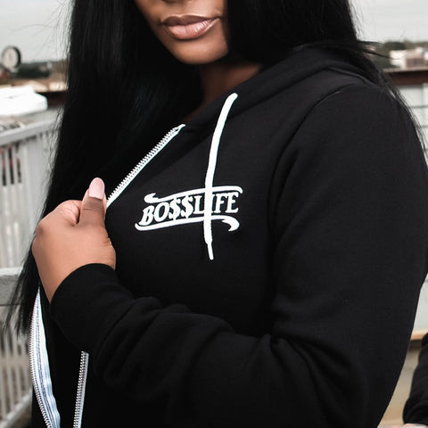 "BossLife ""World"" Zip Up - Black/White"