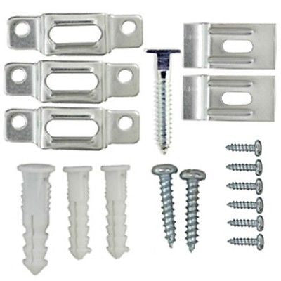 Picture Frame Security Hangers / Hardware For Wood or Metal Frames - Free Wrench