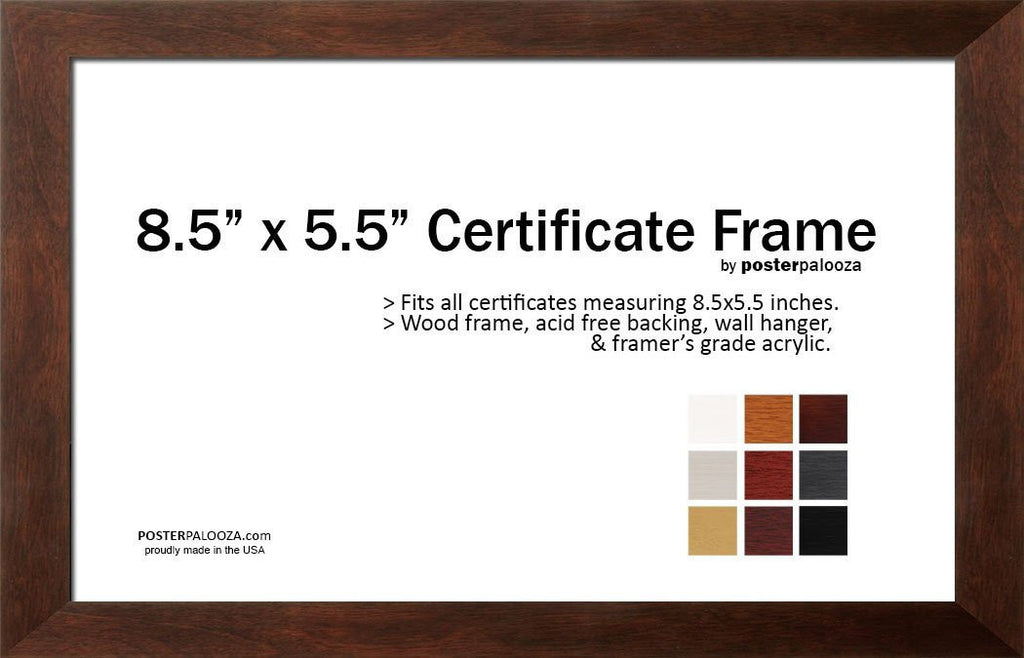 Twelve 12 Pack 85 X 55 Certificate Frames Save 20