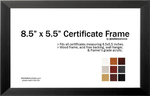 "Twelve (12) Pack 11"" x 8.5"" Certificate Frames - Save 20%!"