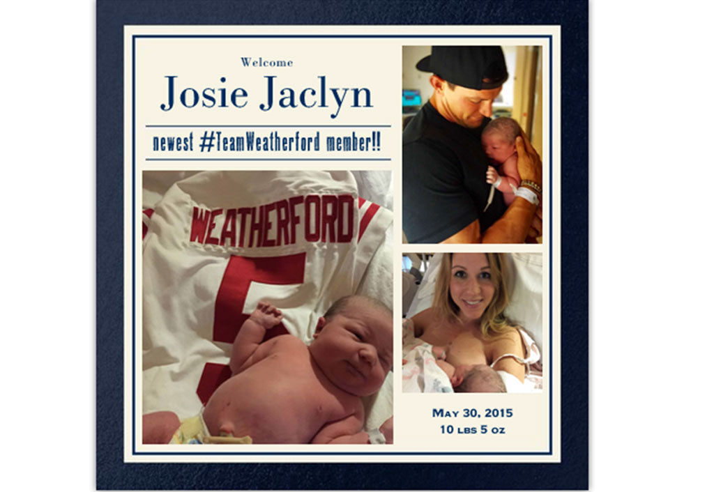 Welcome to the world Josie! | Steve Weatherford