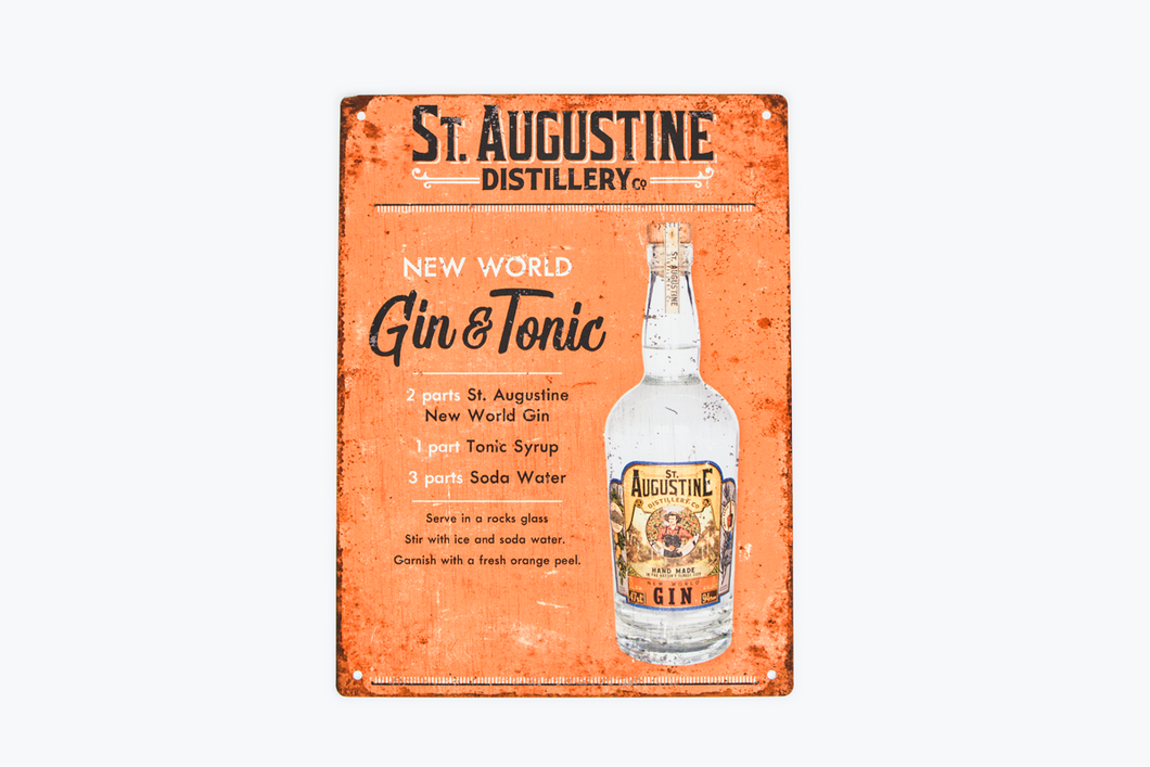 New World Gin & Tonic Sign