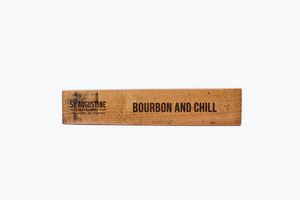 """Bourbon and Chill"" Wooden Message Sign"