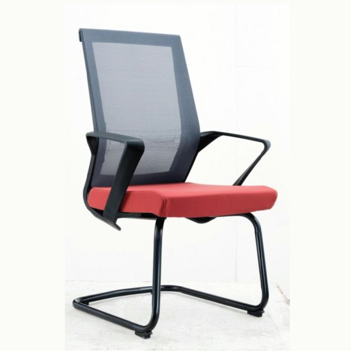 Korean Visitor Chair - Red Black