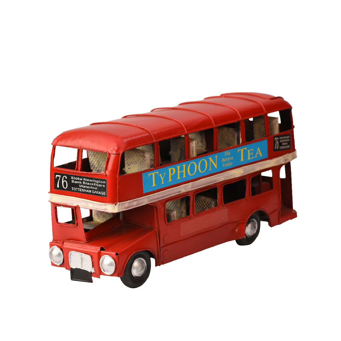 Retro Double-Decker Bus Ornament
