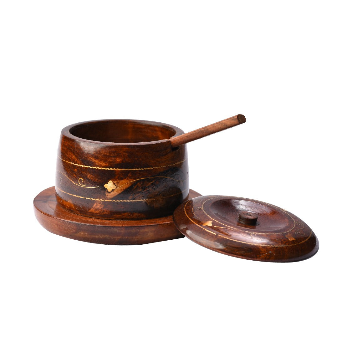 Elegant Modern Wooden Pot
