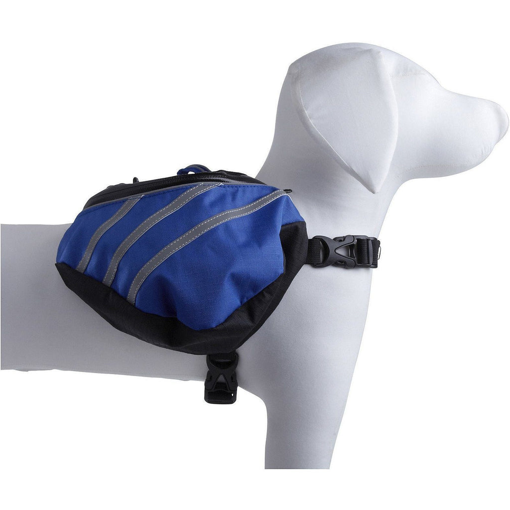 Pet Life ® 'Everest' DUPONT Waterproof Reflective Travel Fashion Designer Outdoor Camping Pet Dog Backpack Carrier X-Small Blue