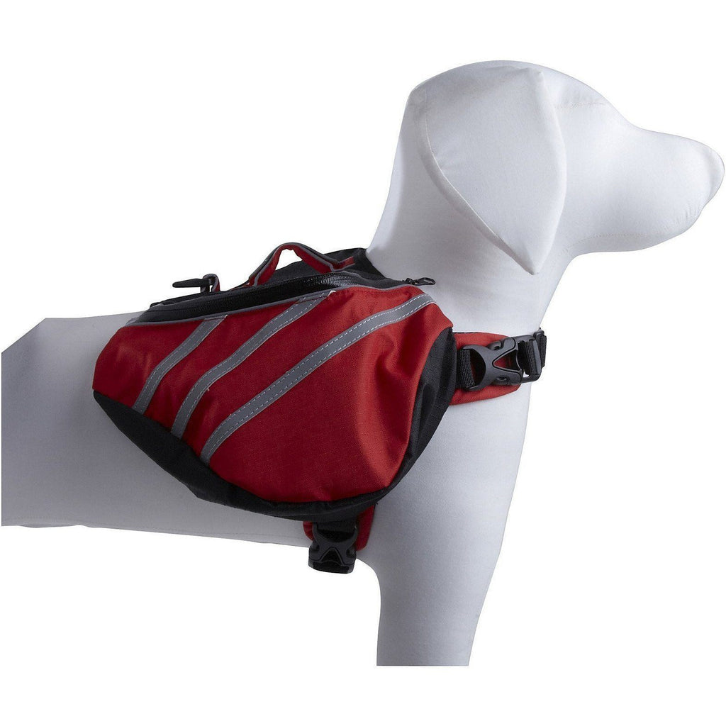 Pet Life ® 'Everest' DUPONT Waterproof Reflective Travel Fashion Designer Outdoor Camping Pet Dog Backpack Carrier X-Small Red