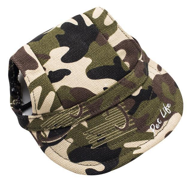 Pet Life ®  'Torrential Downfour' Camouflage UV Protectant Adjustable Fashion Dog Hat Cap