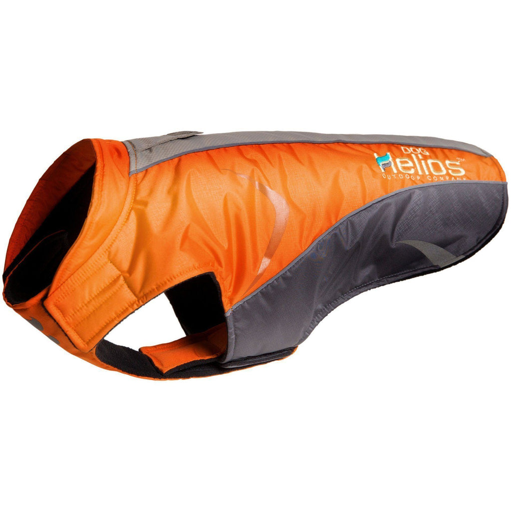 Dog Helios ® Altitude-Mountaineer Wrap-Velcro Protective Waterproof Dog Coat w/ Blackshark technology X-Small Orange, Charcoal Grey, Light Grey