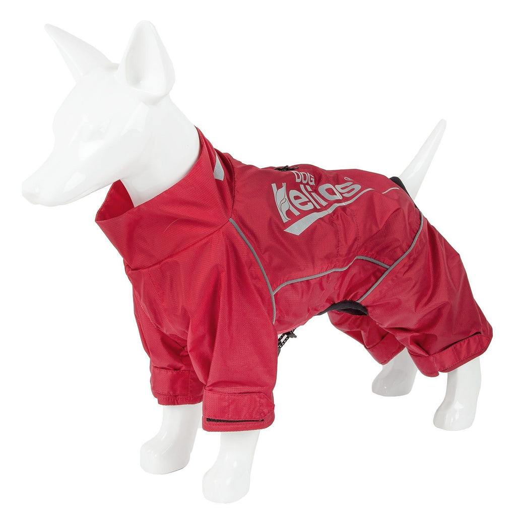 Dog Helios ® 'Hurricanine' Waterproof And Reflective Full Body Dog Coat Jacket W/ Heat Reflective Technology X-Small Sporty Red