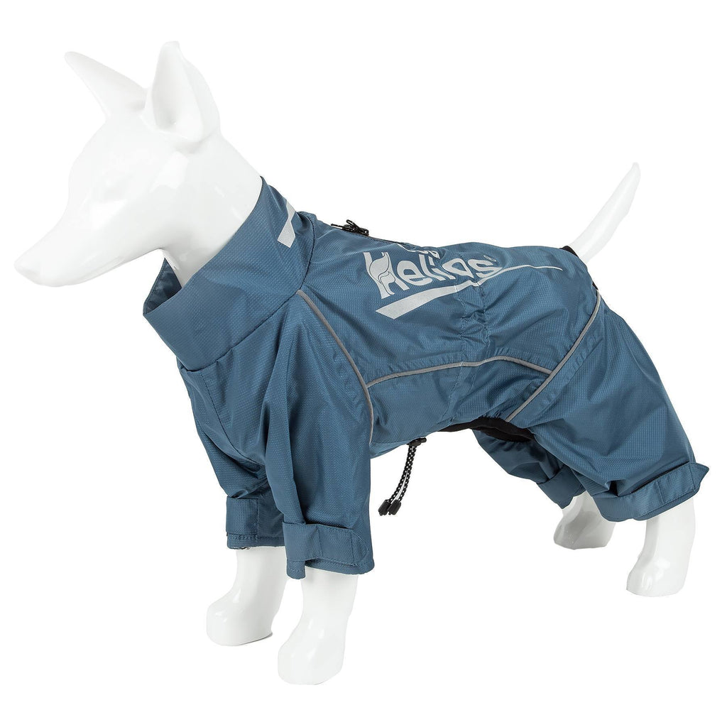 Dog Helios ® 'Hurricanine' Waterproof And Reflective Full Body Dog Coat Jacket W/ Heat Reflective Technology X-Small Blue