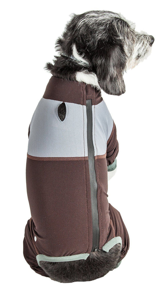 Dog Helios ® 'Tail Runner' Lightweight 4-Way-Stretch Breathable Full Bodied Performance Dog Track Suit