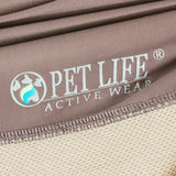 Pet Life ®  Active 'Barko Pawlo' Relax-Stretch Wick-Proof Performance Dog Polo T-Shirt