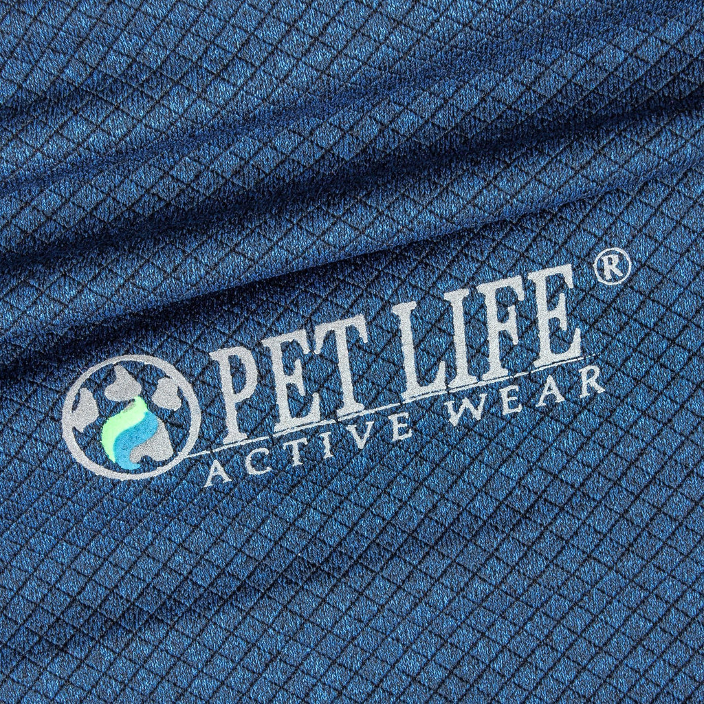 Pet Life ®  Active 'Fur-Flexed' Relax-Stretch Wick-Proof Performance Dog Polo T-Shirt