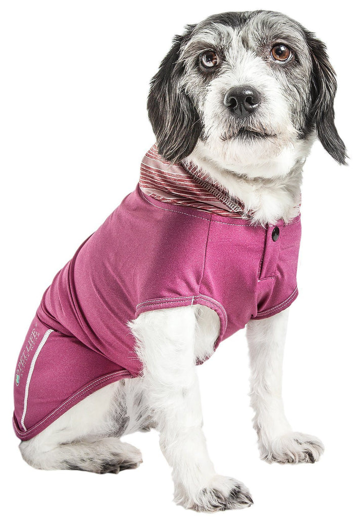 Pet Life ®  Active 'Pull-Rover' Premium 4-Way Stretch Two-Toned Performance Sleeveless Dog T-Shirt Tank Top Hoodie