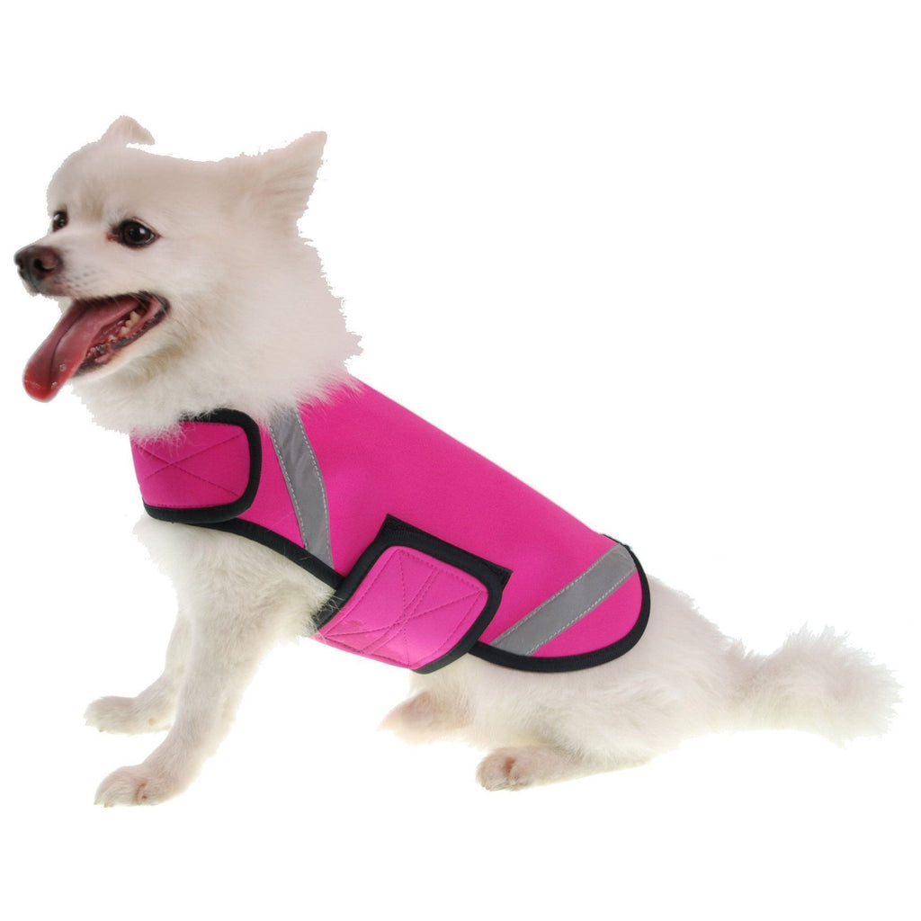 Pet Life ® 'Extreme Neoprene' Multi-Purpose Protective and Reflective Rash Guard Dog Coat X-Small Pink