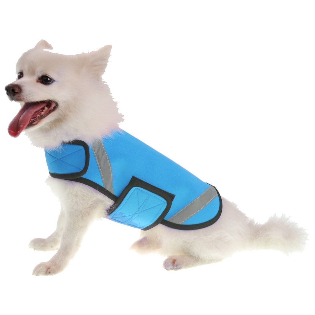Pet Life ® 'Extreme Neoprene' Multi-Purpose Protective and Reflective Rash Guard Dog Coat X-Small Blue