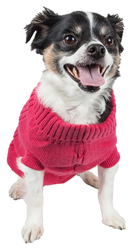 Pet Life ® Heavy Cotton Rib-Collared Fashion Dog Sweater