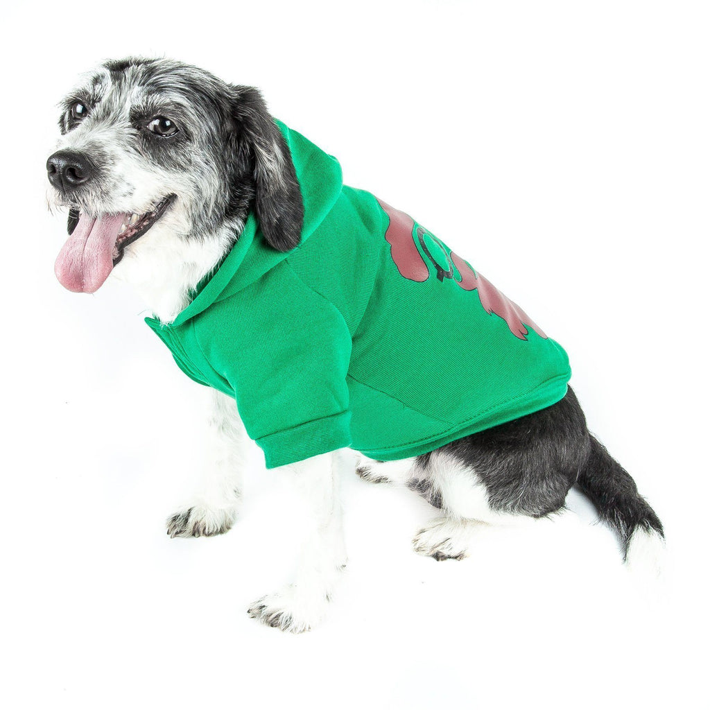 Pet Life ® LED Lighting 'Cool Santa Shades' Hooded Dog Costume Sweater w/ Included Batteries